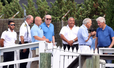 Bill Clinton spotted in Hamptons boarding yacht with Epstein-connected billionaire sugar baron brothers